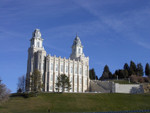 Manti temple in December