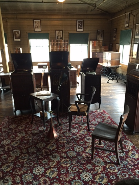 Edison's listening desk in music room where he previewed all recordings before they could be sold.