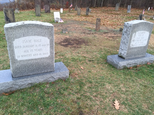 Isaac and Elizabeth Hale grave site