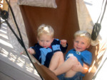 Here are Toric and Kyton in the Hawaiian hamock at Brittney's parents house.  They are the most comfortable chairs!  Snooze time!